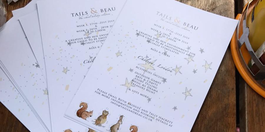 Tails & Beau leaflets